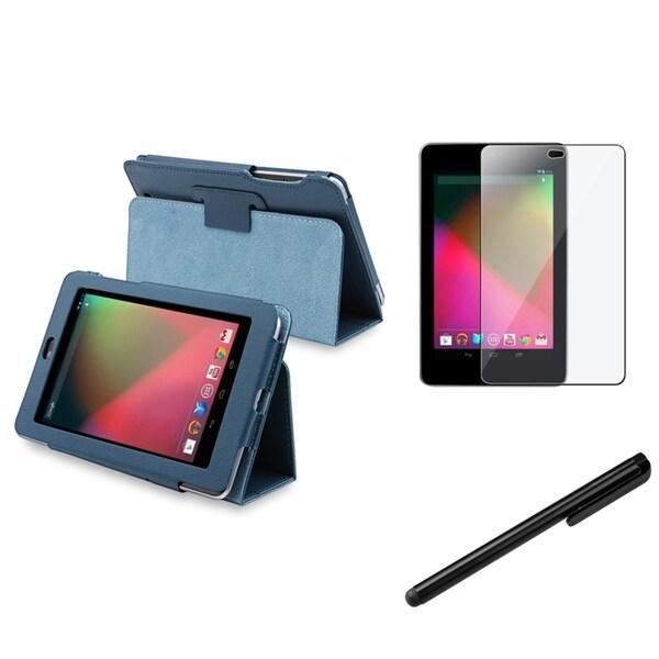 BasAcc Blue Case/Anti-Glare Screen Protector/Stylus for Google Nexus 7