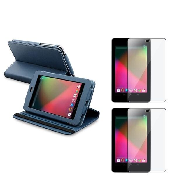 BasAcc Blue Case/ Screen Protector for Google Nexus 7