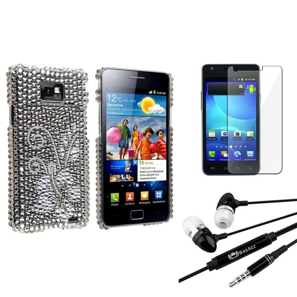 Durable BasAcc Case/ Screen Protector/ Headset for Samsung© Galaxy S2 I9100