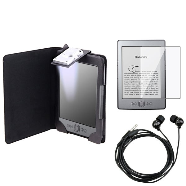INSTEN Black Phone Case Cover/ Screen Protector/ Headset for Amazon Kindle 4