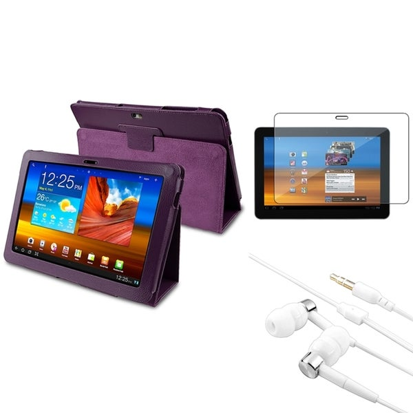 BasAcc Case/ Screen Protector/ Headset for Samsung© Galaxy Tab 10.1