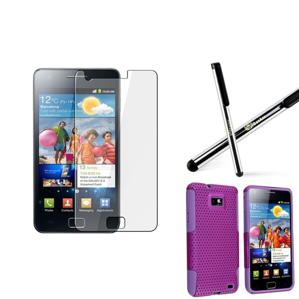 BasAcc Case/ Screen Protector/ Stylus for Samsung Galaxy S2 i9100