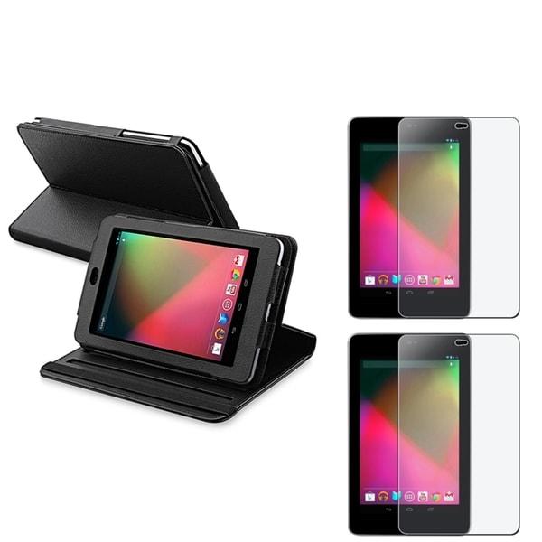 BasAcc Black Case/ Anti-glare Screen Protector for Google Nexus 7