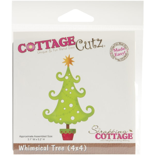 "CottageCutz Die 4""X4""-Whimsical Tree Made Easy"