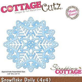 "CottageCutz Die 4""X4""-Snowflake Doily Made Easy"