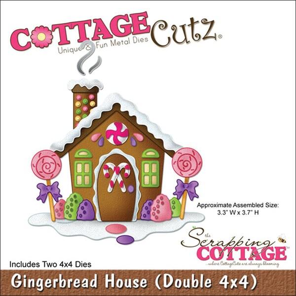 CottageCutz 'Gingerbread House' 4x4-inch Die Set