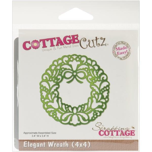CottageCutz 'Elegant Wreath' 4x4-inch Die