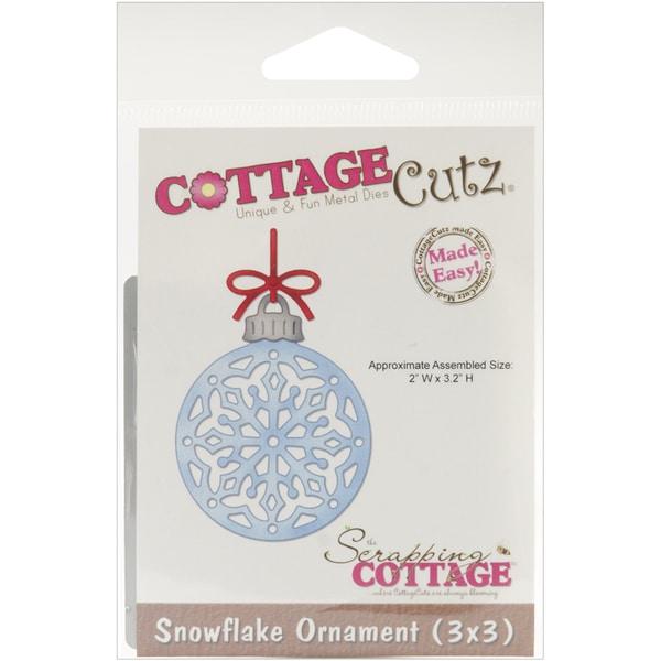 "CottageCutz Die 3""X3""-Snowflake Ornament Made Easy"