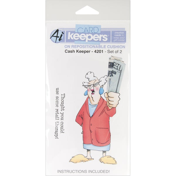 Art Impressions Cash Keepers Cling Rubber Stamp-Cash Keeper