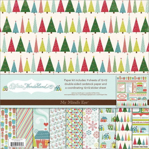 "Winter Wonderland Paper & Accessories Kit 12""X12""-"