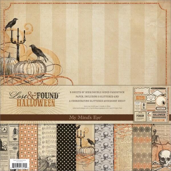 "Lost & Found Halloween Paper & Accessories Kit 12""X12""-"