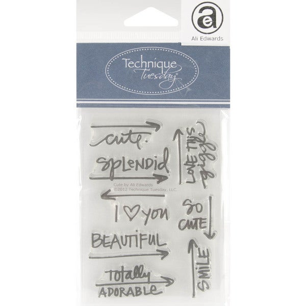 """Technique Tuesday Clear Stamps 3""""X4""""-Cute"""
