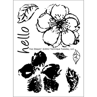 """Technique Tuesday Clear Stamps 3""""X4""""-Two Steppin'"""