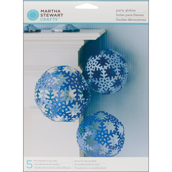 Party Globes Snowflakes 5/Pkg-