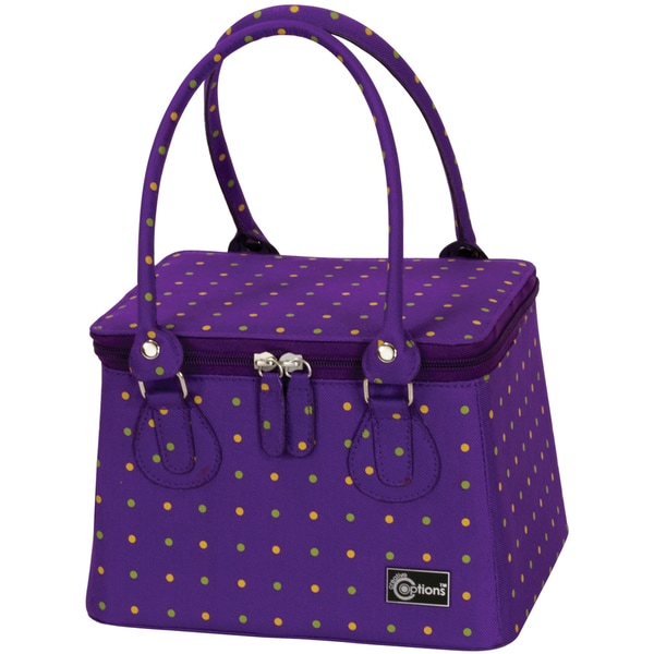 "Creative Options Crafter's Tapered Tote 9.125""X7.125""X7""-Vineyard Mini Dots"