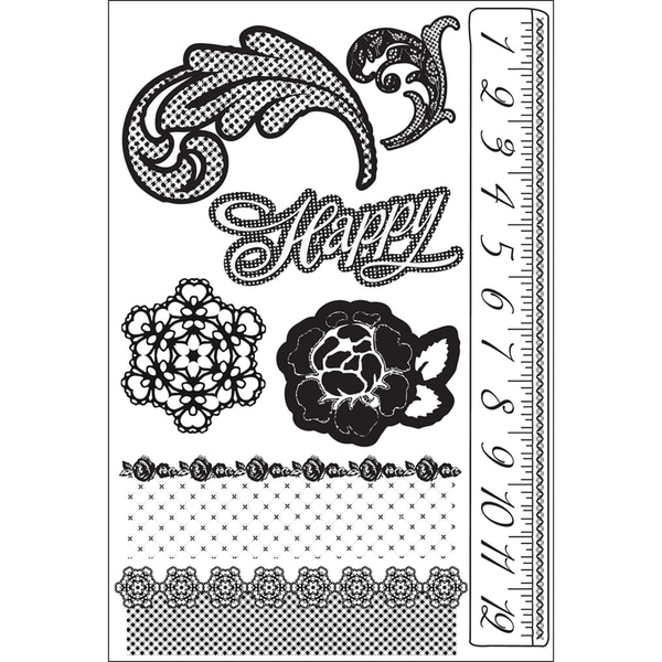 """Rosarian Cling Stamps 4""""X6""""-"""