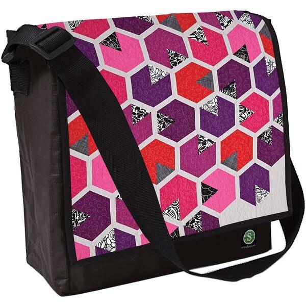 Honey Quilt Eco Messenger Bag