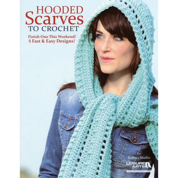 Leisure Arts-Hooded Scarves To Crochet