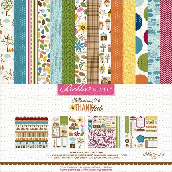 "Thankful Collection Kit 12""X12""-"
