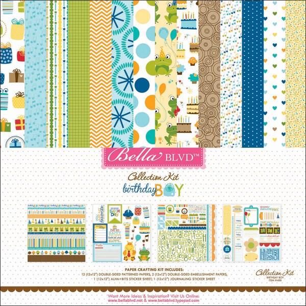 """Birthday Boy Collection Kit 12""""X12""""-"""