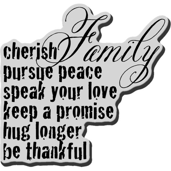 Stampendous Cling Rubber Stamp-Cherish Family