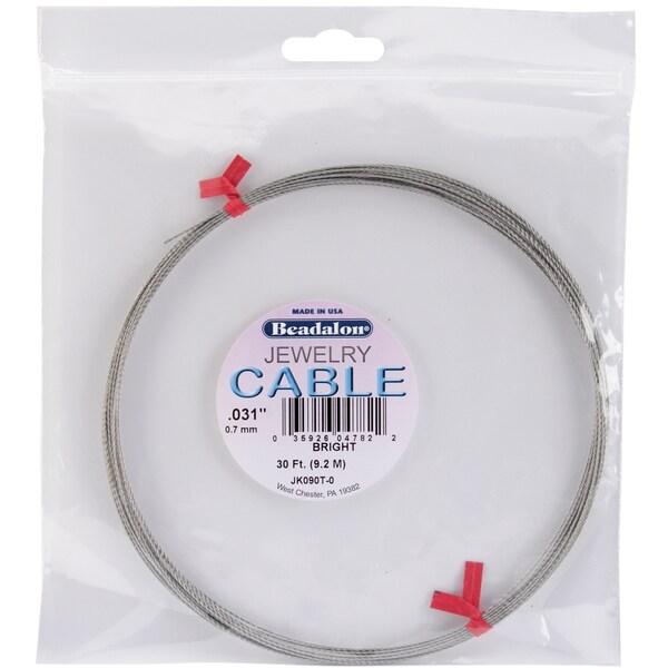 "Jewelry Cable .031"" Diameter 30 Feet/Pkg-Bright"