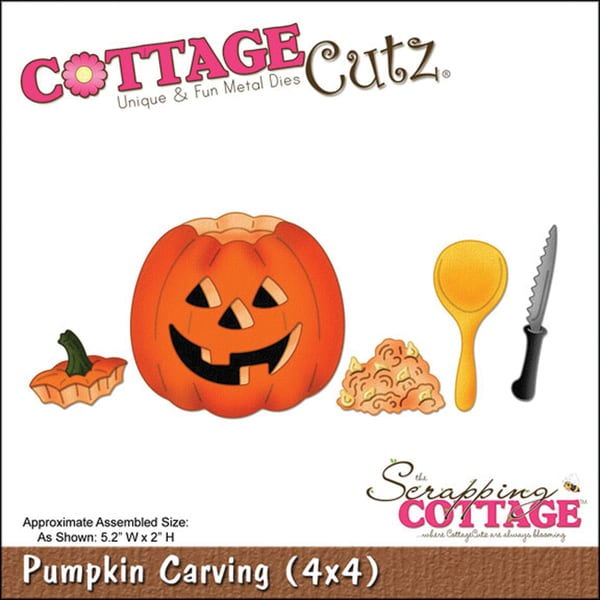 CottageCutz 'Pumpkin Carving' 4x4-inch Die