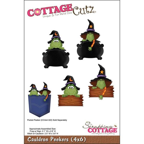 CottageCutz 'Cauldron Peekers' 4x6-inch Die