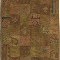 Hand-tufted Contemporary Squares Wool Rug (5' x 8')