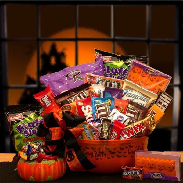 No Tricks Just Treats Halloween Gift basket