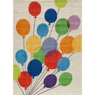 Momeni 'Lil Mo Party Balloons Ivory Rug