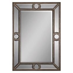 Ren Wil Silver Leaf Bevelled Insert Mirror