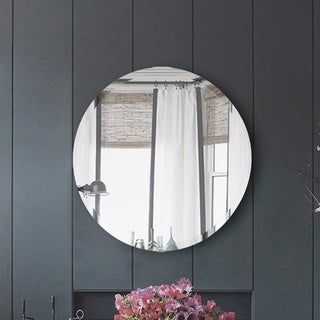 Ren Wil Frameless Beveled Round Mirror