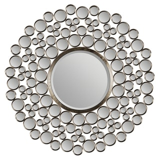 Ren Wil Chic Satin Nickel Round Mirror