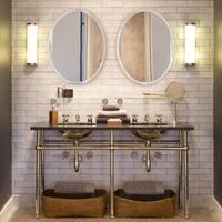 Ren Wil Beveled Frameless Oval Mirror