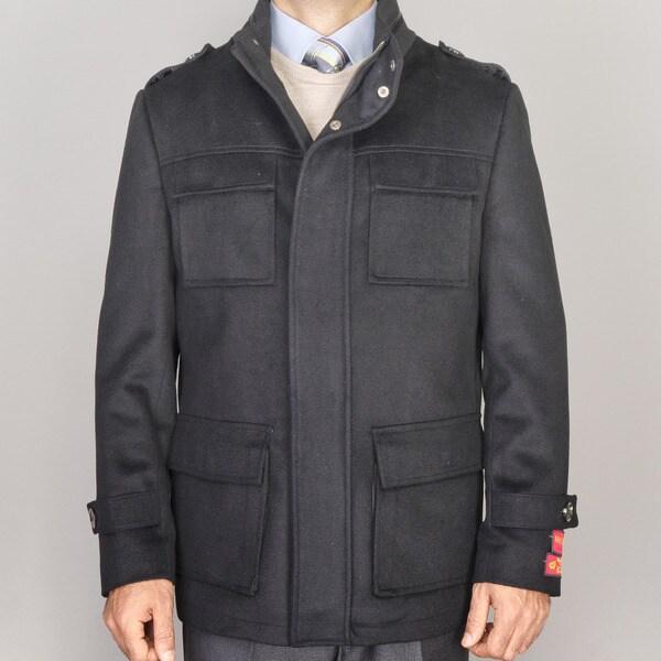Men's Wool/Cashmere Blend Coat
