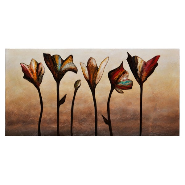 Ren Wil Stephanie Fontaine 'Elegance' Hand-painted Canvas Art
