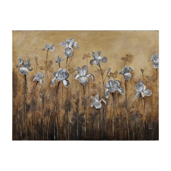 Ren Wil Catherine Brink 'Fiore Bianco' Hand-painted Canvas Art