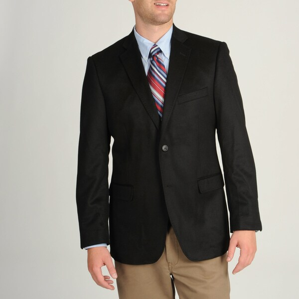 Adolfo Men's Black Cashmere Sportcoat