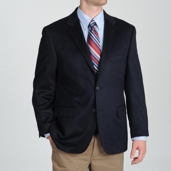 Adolfo Men's Navy Cashmere Sportcoat
