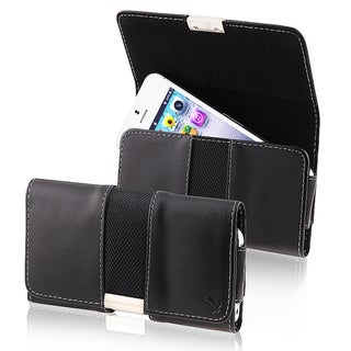 BasAcc Black Leather Pouch for Apple® iPhone 5