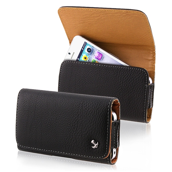BasAcc Black Leather Pouch for Apple iPhone 5
