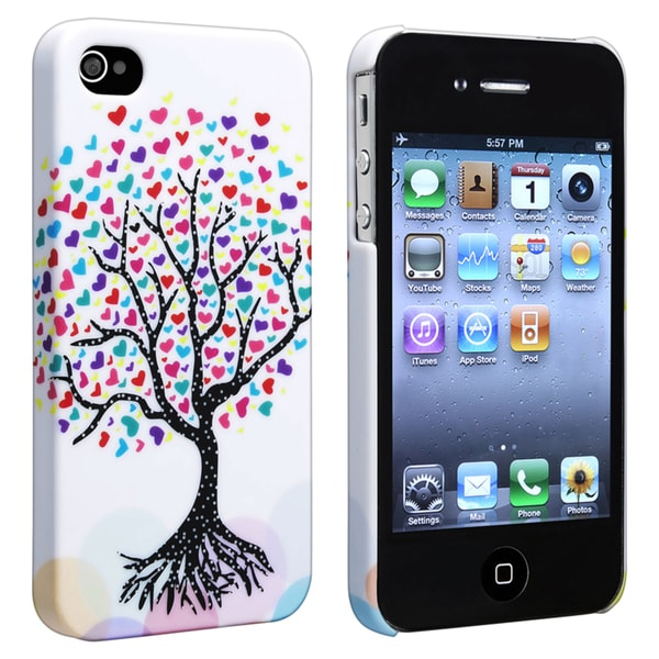 INSTEN White Snap-on Rubber Coated Phone Case Cover for Apple iPhone 4/ 4S