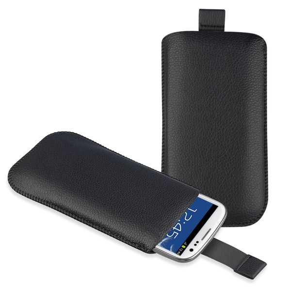 INSTEN Black Leather Pouch for Samsung Galaxy S III / S3