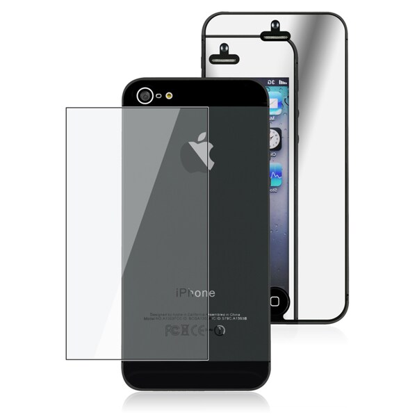 INSTEN 2-LCD Kit Mirror Screen Protector for Apple iPhone 5