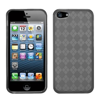 BasAcc Smoke Checker TPU Rubber Skin Case for Apple iPhone 5