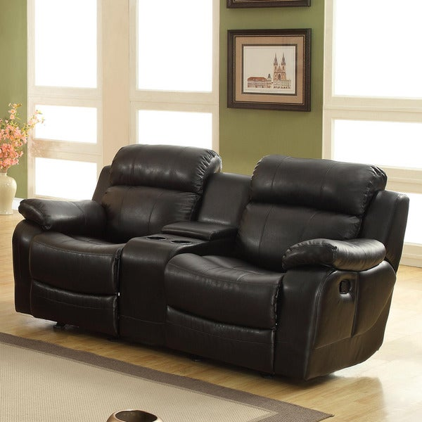 Eland Black Glider Recliner Loveseat by iNSPIRE Q Classic : gliding reclining loveseat - islam-shia.org