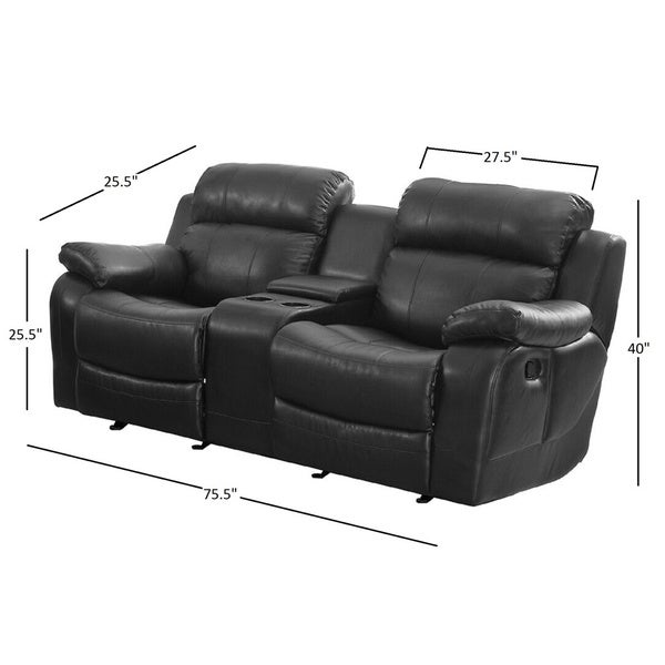 Eland Black Glider Recliner Loveseat by iNSPIRE Q Classic - Free Shipping Today - Overstock.com - 14803473  sc 1 st  Overstock.com & Eland Black Glider Recliner Loveseat by iNSPIRE Q Classic - Free ... islam-shia.org