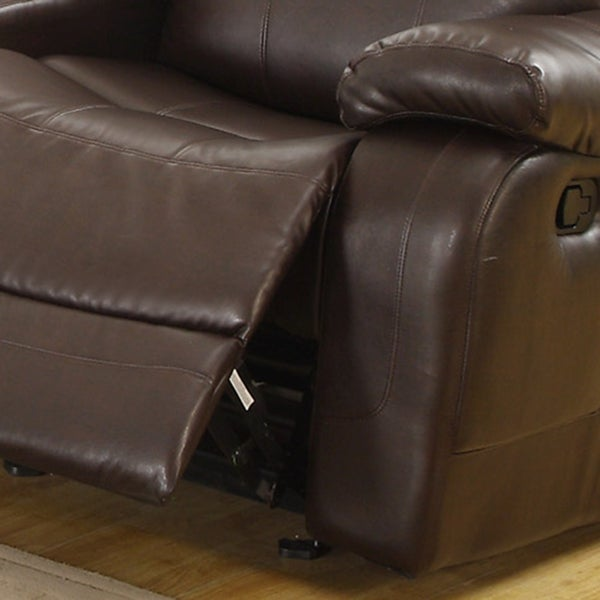 Eland Brown Glider Recliner Loveseat by iNSPIRE Q Classic - Free Shipping Today - Overstock.com - 14803475 & Eland Brown Glider Recliner Loveseat by iNSPIRE Q Classic - Free ... islam-shia.org