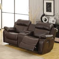Eland Brown Glider Recliner Loveseat by iNSPIRE Q Classic